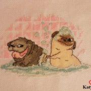 Pug in the Bath