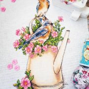 Cross stitch design «Eastern Sialia»