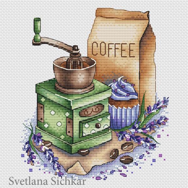 Coffee grinder with lavender