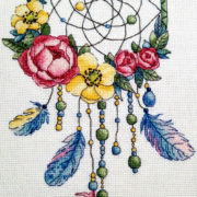 Dream catcher with roses