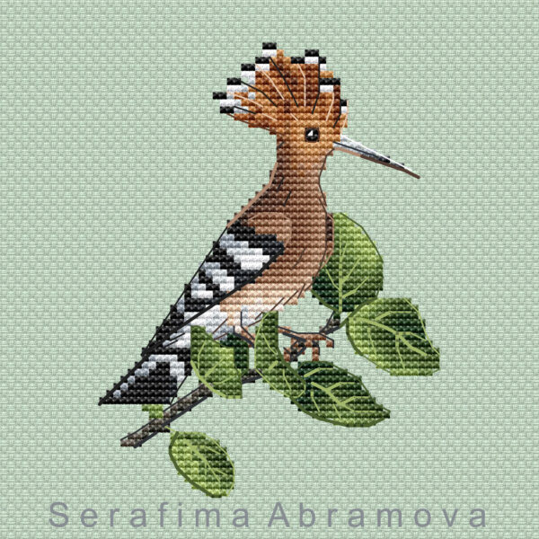 Little Spring Birds. Hoopoe