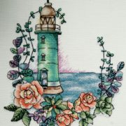 Lighthouse with roses