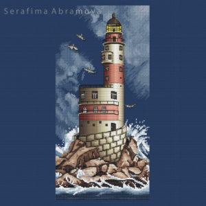 Lighthouse Aniva.Blue canvas1