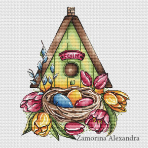 Easter house for birds