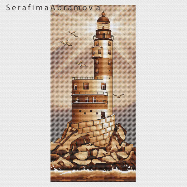 Lighthouse Aniva. Sepia