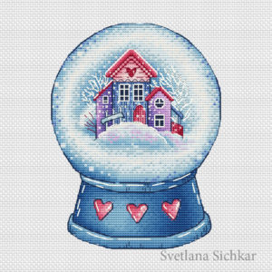 Snow globe with houses