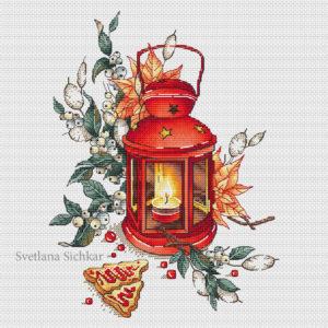 Lantern with snowberry