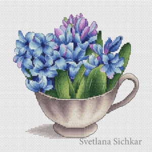 Hyacinths in a cup