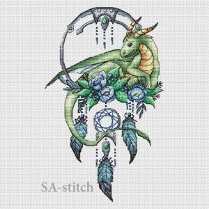 Ловец снов с зеленым драконом