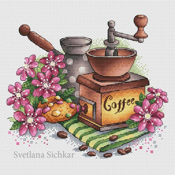 Coffee grinder with cookies