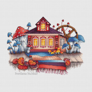 House with mushrooms