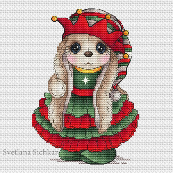 Bunny Christmas Elf