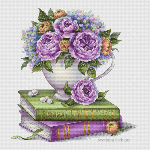 Roses and books