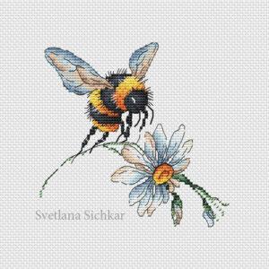 Bumblebee and chamomile